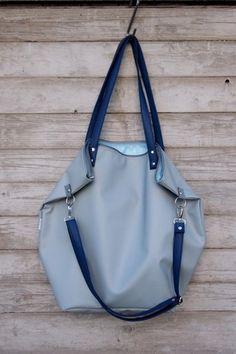 Shoulder Bags – Worek XXL Waterproof Blue&Blue – a unique product by MANA-MANA-BAGS on DaWanda