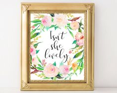 Isn't she lovely, nursery decor, printable art, nursery art, wall art, baby girl…