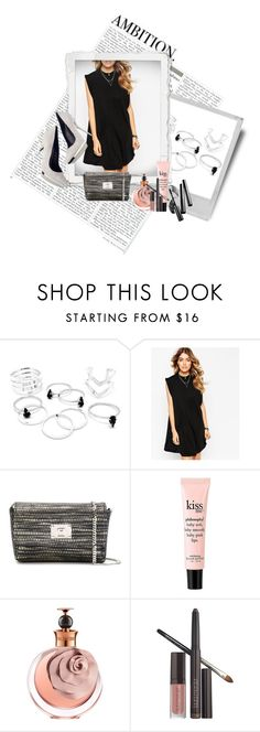 """""""Sin título #559"""" by lululafitte on Polyvore featuring moda, ASOS, Versace, Jimmy Choo, Polaroid, philosophy, Valentino, Laura Mercier, Chantecaille y women's clothing"""