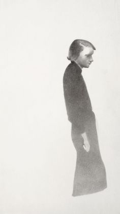 © Vlasta Vostřebalová Fischerová - Žena pod lucernou (1935), kresba uhlem, Galerie umění Karlovy Vary Drawings, Paintings, Artists, Paint, Painting Art, Artist, Sketches, Drawing, Painting