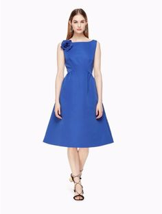 Kate Spade V-back Structured Dress, Cobalt Blue - Size 00 Dresses For Sale, Dresses For Work, Best Wedding Guest Dresses, Structured Dress, Dress Brands, Designing Women, Fit And Flare, Kate Spade, Sweaters For Women