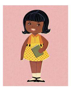 Little Girl Holding Book Art Print at AllPosters.com