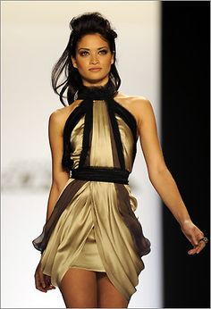 LOVE this edgy gold dress so much