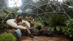 Garden Igloo Dome Outdoor Gazebo Tent Summer House Patio Office Room PVC Cover for sale online Outdoor Rooms, Outdoor Living, Outdoor Decor, Geodesic Dome, Cozy Room, Laura Lee, Fresco, Living Spaces, Gardens