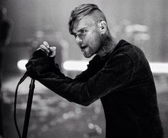"""Bert McCracken on the set of """"Cry"""". Photo by Ryan Muirhead. God, this man is beautiful."""