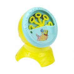 The Nickelodeon SpongeBob SquarePants Bubble Blowing Machine is a battery-operated bubble blower that comes with a four-ounce bottle of Fubbles bubble solution.