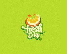 Ideas fruit logo juice for 2019 Logo Inspiration, Food Brand Logos, Logo Food, Logo Branding, Branding Design, Juice Logo, Logos Retro, Retro Font, Typographie Logo