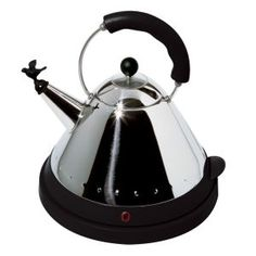Alessi electric bird kettle black