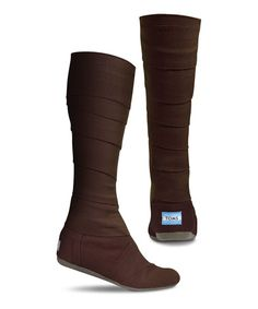 Take a look at this Brown Canvas Vegan Wrap Boot - Women by TOMS on #zulily today!