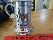 vintage pewter beer stein cup mug peltre inarbo Bolivia llama cactus antique
