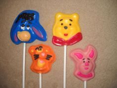 winnie the pooh candy molds   ... Winnie the Pooh Eeyore Piglet Tigger Face Lollipop Chocolate Candy