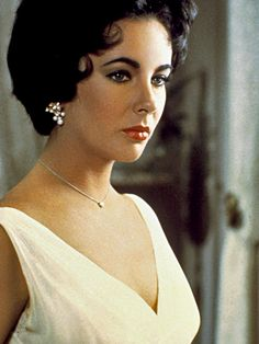 "Actress Elizabeth Taylor in ""Cat on a Hot Tin Roof"" (1958)."