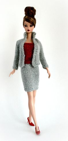 Silver Suit for Barbie by ChicBarbieDesigns on Etsy, $23.99
