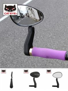 [Visit to Buy] CATEYE BM-500G bicycle rear view mirror mountain bike mirror small end bar parts left/right #Advertisement