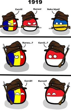 Poland and Romania Hetalia, Funny Images, Funny Pictures, Polish Memes, Funny Jokes, Hilarious, Gamer Humor, History Memes, Country Art