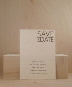 Vintage Pattern / Sophisticated and Simple / Modern Clover Save the Date / Wedding / Small Invitation / Party / Dinner / Cocktail Supper