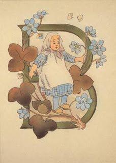 Illustration by Ottilia Adelborg - letter B Decorative Alphabet Letters, Alphabet Art, Calligraphy Alphabet, Typography Letters, Embroidery Alphabet, Font Art, Letter B, Illuminated Letters, Monogram Fonts