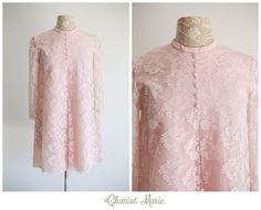 Hey, I found this really awesome Etsy listing at https://www.etsy.com/listing/192531998/pastel-pink-lace-vintage-mini-dress