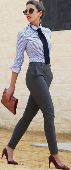 Menswear for women is a great idea for how to dress for an interview!