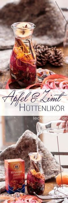 Hüttenlikör mit Apfel und Zimt