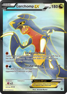 the only garchomp ex is god awful, so i felt like making another one that will be at least worthy of play this card is going to be in my Cosmic Alliance. Full Art Garchomp EX (COSMIC ALLIANCES) Fake Pokemon Cards, Social Community, Cosmic, Deviantart, Letters, Wedding Ring