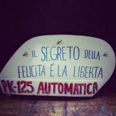 il segreto della felicita e la liberta pk-125 automatika , lettering sign #loserkillpaintwork