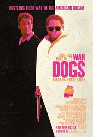 War Dogs Based on a real story of two young guys that sell arms to the government by using a contract website. Stars Jonah Hill, Miles Teller, Kevin Pollak, Ana de Armas, and Bradley Cooper. Miles Teller, Jonah Hill, War Dogs, Bradley Cooper, Christopher Robin, Hd Movies, Movies To Watch, 2016 Movies, Breaking Bad