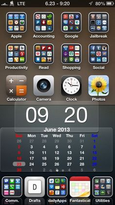 Tip: iPhone Home Screen Organization. #Smartphones