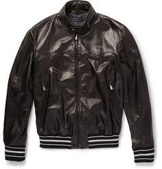 Bottega Veneta Leather Bomber Jacket   MR PORTER
