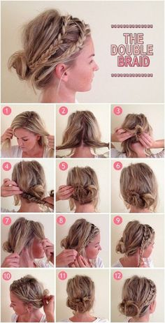 Cute Everyday Hairstyles Tutorials: Double Braids