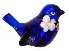 Fenton Art Glass -  cobalt bird