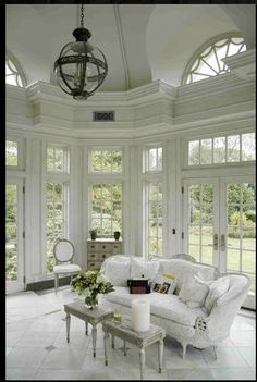 white clean windowed room
