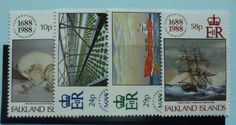 Falkland Islands Stamps 1988 300th Anniversary of Lloyds of London SG563-566 Mint never hinged