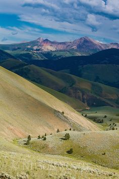Lima Peaks and grassy foothills in southwestern Montana