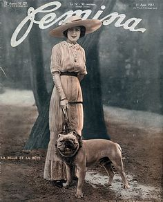 Femina (Cover) 1912 English Bulldog