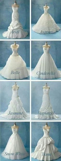 Perfect wedding dress for each Disney princess