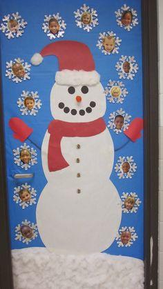 Óvodás Gyerekek: Téli ajtó dekorációk - hóemberes