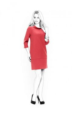 Tunic From Knit Fabric - Patrons de couture #4412