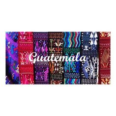 Textile design from Guatemala, photo card.