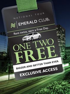 Emerald Car rental promotion - A free day rental for every 2 paid