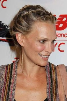 Molly Sims's romantic plait