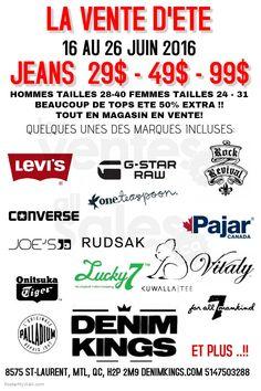 Solde d'été jeans griffés 29$-49$-99$ | lesventes.ca