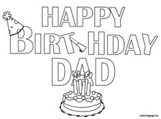 101 Best Happy Birthday Coloring Page S Images Coloring Pages