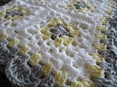 granny square baby crochet blanket afghan by DonnasPinsandNeedles
