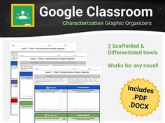 Characterization is the process by which the writer reveals the personality of a character. Help your students to analyze how an author developed their characters using this Google Docs and Classroom ready graphic organizer! No more messy formatting errors upon converting from .pdf or .docx to Google Docs; however, these file formats are also included in the download for your convenience.