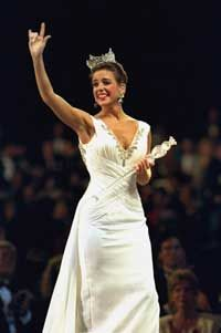 Heather Whitestone.  The first Miss America with a disability (deaf).
