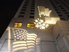 The Ritz-Carlton, Pentagon City illuminates over holiday weekends.