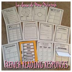 12 activités de compréhension/12 French Reading Response activities