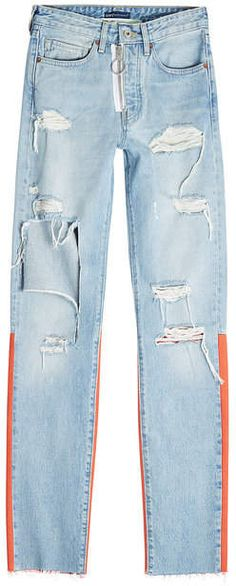 Off-White X Levi's Distressed Skinny Jeans