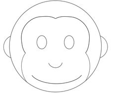 cake templates | Monkey Cake Design, Monkey Cake Pattern Template